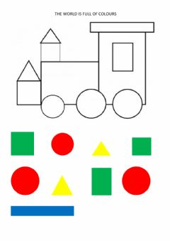 Interactive worksheet Colours and shapes