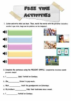 Ficha interactiva Free time activities