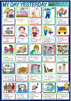 Interactive worksheet Past daily routines