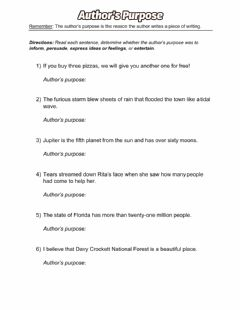 Interactive worksheet Author's Purpose - Review