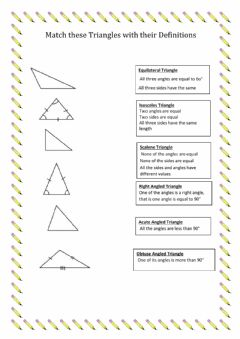 Interactive worksheet Types of Angles