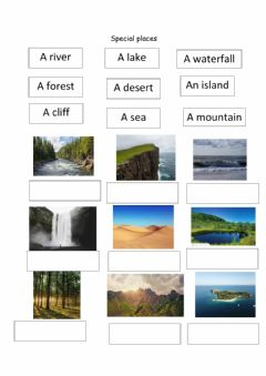 Interactive worksheet Special places: nature