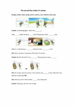 Interactive worksheet The ant and the cricket