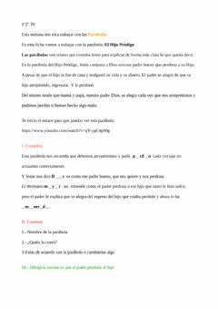 Interactive worksheet HIJO PRÓDIGO