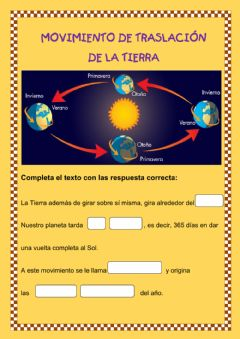 Interactive worksheet Movimiento de traslación de la Tierra
