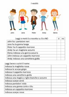 Interactive worksheet Chi è?