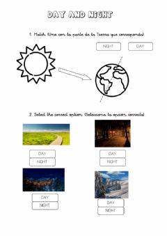 Interactive worksheet Day and night