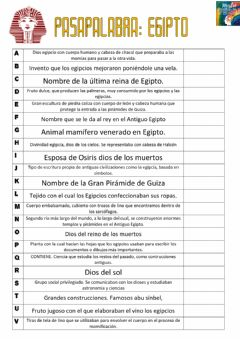 Interactive worksheet Pasapalabra Egipto