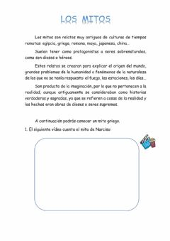 Interactive worksheet Los mitos: el mito de Narciso
