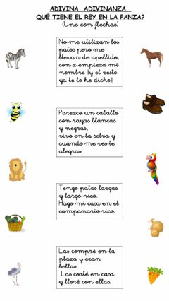 Interactive worksheet Adivinanzas c