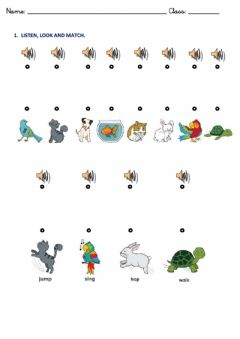 Interactive worksheet Animals and actions 2