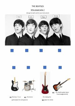 Interactive worksheet The Beatles: who played what?
