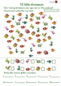 Interactive worksheet 10 little dinosaurs