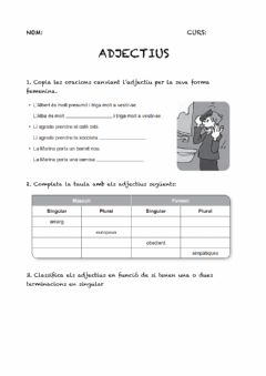 Interactive worksheet Adjectius