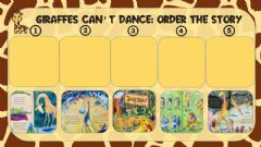 Interactive worksheet Story sequencing Giraffes can't dance