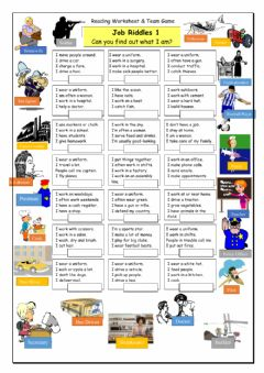 Interactive worksheet Game: Job Riddles