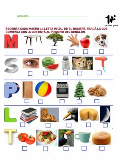 Interactive worksheet Con P, L, T, S, M