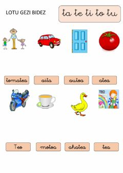 Interactive worksheet Ta te ti to tu