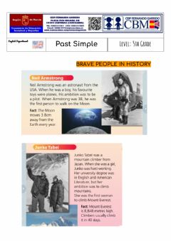 Interactive worksheet Brave People in History