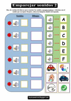 Interactive worksheet Emparejar sonidos 2