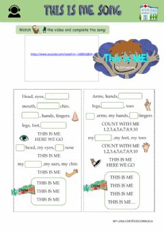 Interactive worksheet This is me song