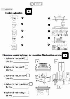 Interactive worksheet Exam Unit 8 1º