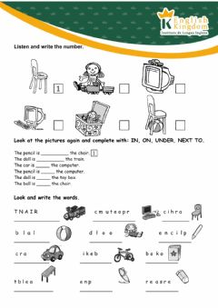 Interactive worksheet Prepositions of place and toys