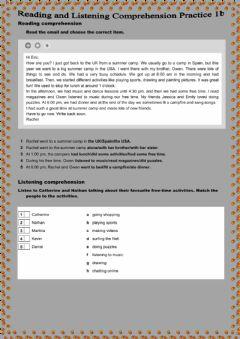 Interactive worksheet Reading and Listening Comprehension Practice 1b