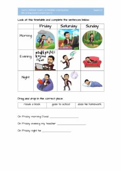Interactive worksheet Unit 6. 006 writing. present simple