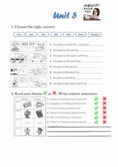 Interactive worksheet Review unit 5