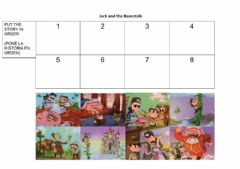 Interactive worksheet Jack and the Beanstalk - Put the story in order