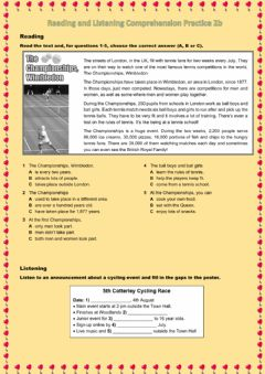 Interactive worksheet Reading and Listening Comprehension Practice 2b