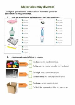Interactive worksheet Materiales muy diversos