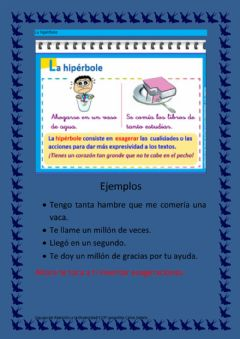 Interactive worksheet La hipérbole
