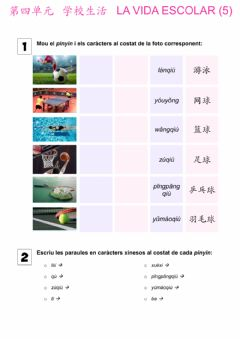Interactive worksheet Básico 1 Tema 4 Vida Escolar 7