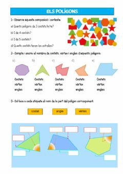 Interactive worksheet Polígons - parts