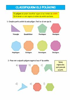 Interactive worksheet Polígons - Classificació