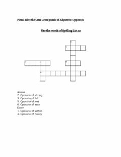 Interactive worksheet Adjectives Puzzle
