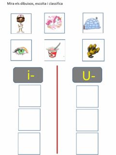 Interactive worksheet Classifica sons i u