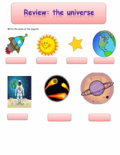 Interactive worksheet The universe