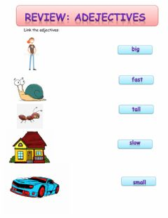 Interactive worksheet The adjectives