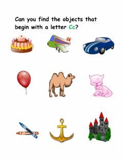 Interactive worksheet Letter C Sounds