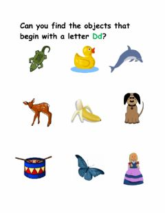 Interactive worksheet Letter D Sounds