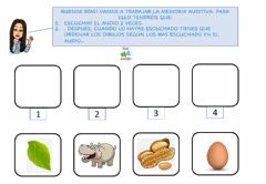 Interactive worksheet Memoria auditiva -h-