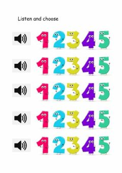 Interactive worksheet counting 1-10