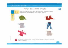 Interactive worksheet What goes with what?