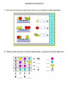 Interactive worksheet Enigmes