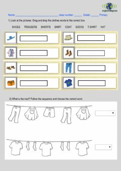 Interactive worksheet 1st CLOTHES