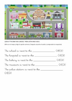 Interactive worksheet Choose and listen. Town