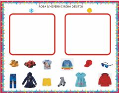 Interactive worksheet Roba estiu i hivern